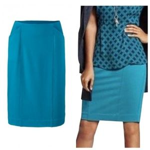 CAbi Sigourney Pencil Skirt 3220 Pacific Blue
